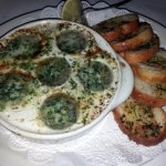 escargot with toasted bread