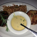 filet and crab cake with sauce