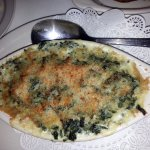 a huge creamed spinach