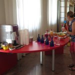free drinks in reception area