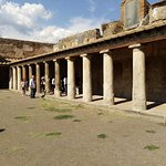 The courtyard of a large house Pompeii