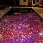 Pool in Villa decorated for birthday celebrations