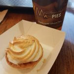 Salted Caramel Meringue tart and hot chocolate