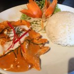 Express lunch - Panang Chicken with boiled rice for £7.50