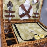 Such a quaint breakfast hamper. Lovely touch.