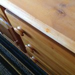 Red stains on dresser