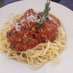 Spaghetti with Giant Meatballs