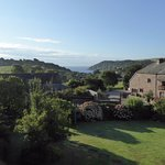 View of Kingsand from bedroom in Coombe House
