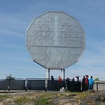 tourists admiring the Big Nickel