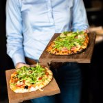 Ham and mushroom pizzetta