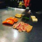 tepanyaki poulet et saumon