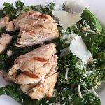 chicken on kale salad
