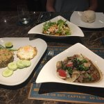 Our three dishes, all were delicious!