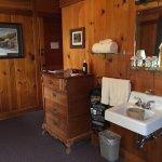 Izaak Walton Inn - Ground Floor Room 3 - Great Northern Room - Sink outside bathroom and interio