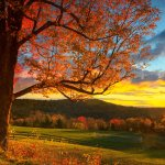 Sunset in the Green Mountains
