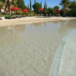 The sand pool, further from the reception