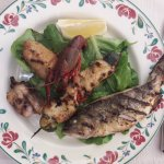 """Grilled fish from the lake"""