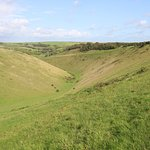 Looking north down Devils Dyke towards Newtimber Hill