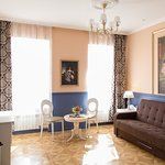 Deluxe apartments in classical style with one bedroom and fireplace