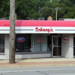 front of & entrance to Shoop's on Ridge Rd.