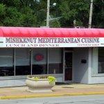 front of & entrance to Mishkenut Mediterranean Cuisine