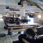 Messing table amongst the 68lb muzzle loading guns