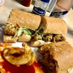 Oyster Po-Boy, Barq's and some good ole Crystal Hot Sauce!!!