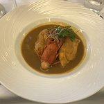 Pike quenelle, served with basmati rice