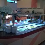 Breakfast restaurant fresh fruit and yogurt bar