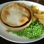The home made steak pie (£6.45 all day on Wednesdays)
