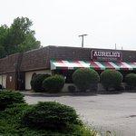 front of & entrance to Aurelio's Pizza