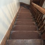 Common areas of Harlem Grand. The stairs are to the third floor, and could use some restoration