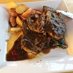 Perfectly cooked steak (medium well), tender and flavorful!