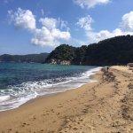 particolare della spiaggia