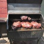 Smoking pork butts
