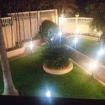 una parte del giardino di notte