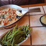 Squid-ink pasta / lobster ravioli