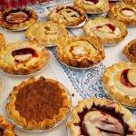 Fresh homemade pies at the Columbia Falls Community Market