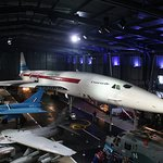 Concorde with jet fighters