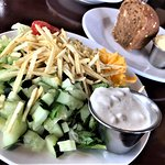 House salad with Blue Cheese dressing