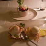 Key lime pie and creme brulee!