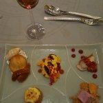 The wonderful plate of mini-desserts