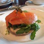 Smoked Salmon on a mini bagel