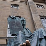 David Hume statue and his good luck toe