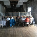 Group buffet lunch in the barn