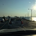 Early morning waiting to load the Ferry in Plattsburgh