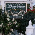 Bay View sign -- Front of hotel