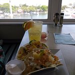 Fish tacos and a margarita with a view.