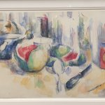 Still Life with Cut Watermelon, Cezanne