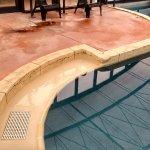 Cracked pool edges
